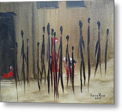 Too Busy To Notice Metal Print by Judith Rhue