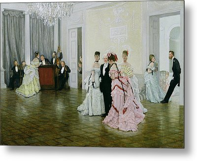 Too Early Metal Print by James Jacques Joseph Tissot