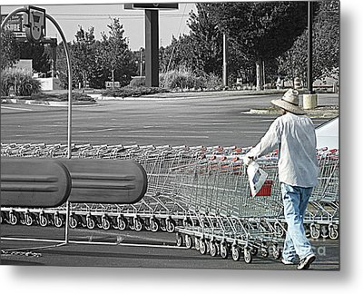 Metal Print featuring the photograph Too Many Carts by Renee Trenholm
