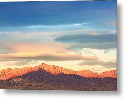 Tooele County Mountains At Sunrise Metal Print