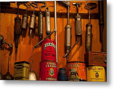 Tool Shop Metal Print by Karol Livote