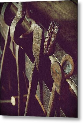 Tools Of The Smith Metal Print by Steven Milner
