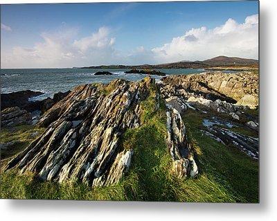 Toormore Coastline Ireland Metal Print