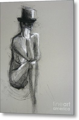 Metal Print featuring the drawing Top by Gabrielle Wilson-Sealy