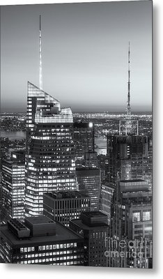 Top Of The Rock Twilight Vii Metal Print by Clarence Holmes
