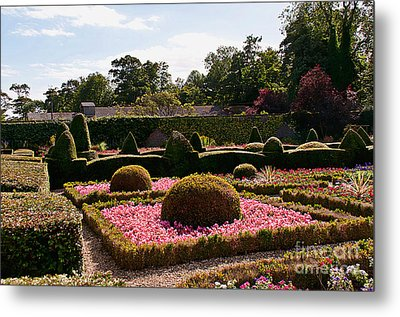 Topiary And Flower Beds 2 Metal Print