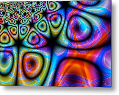 Topological Foam Of Quantized Space-time Metal Print by Manny Lorenzo