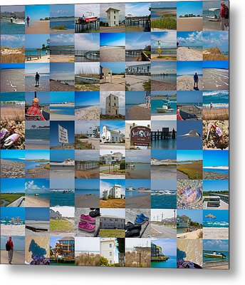 Topsail Visual Contemporary Quilt Series IIi Metal Print by Betsy Knapp