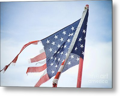 Torn American Flag Metal Print by James BO  Insogna