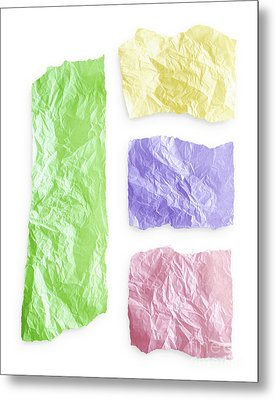 Torn Colorful Paper Metal Print by Blink Images