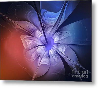 Torn Flower Metal Print by Jutta Maria Pusl