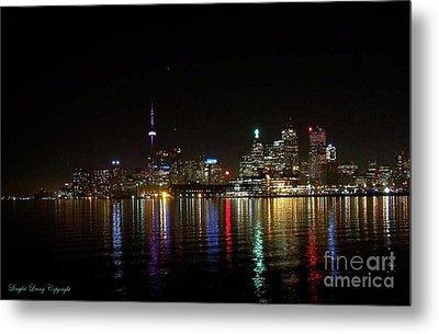 Toronto Skyline At Night Metal Print by Lingfai Leung