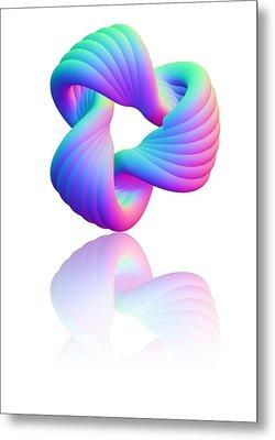 Torus Knot, Computer Artwork Metal Print by Pasieka