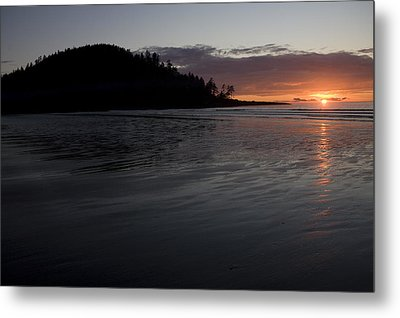 Tow Hill And North Beach At Sunset Metal Print by Taylor S. Kennedy
