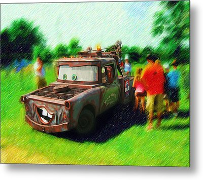 Metal Print featuring the photograph Tow Mater Live by Mario Carini