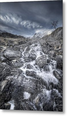 Towards The Cairn Metal Print by Andy Astbury