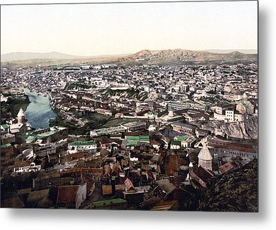 Towards The Megectski Castle - Tbilisi Georgia Metal Print by International  Images