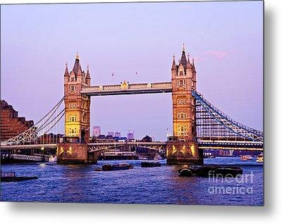 Tower Bridge In London At Dusk Metal Print by Elena Elisseeva