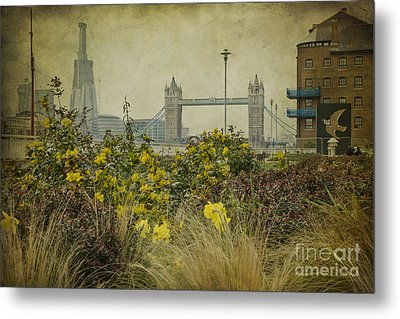 Metal Print featuring the photograph Tower Bridge In Springtime. by Clare Bambers