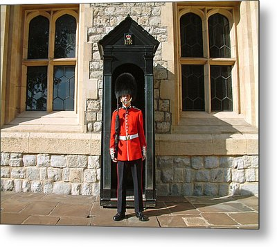 Metal Print featuring the photograph Tower Guard London England by Joseph Hendrix