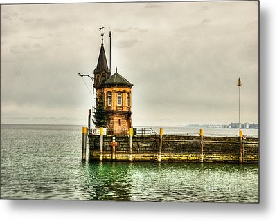 Tower On Lake Metal Print by Syed Aqueel
