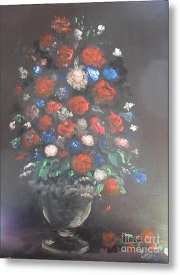Towering Bouquet Metal Print by Laurie L