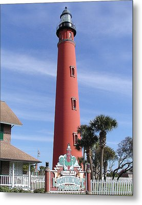 Towering Lighthouse Metal Print