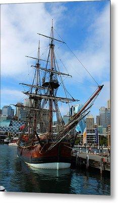 Towering Ship Metal Print by Harlan Fijal-Campbell