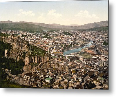 Town Fortress In Tbilisi - Georgia Metal Print by International  Images
