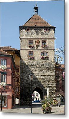 Town Gate Schwarzes Tor In Rottweil Germany Metal Print by Matthias Hauser