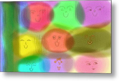 Toy Faces Metal Print