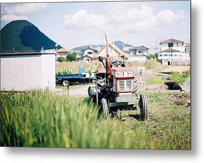 Tractor Metal Print by Dapple Dapple