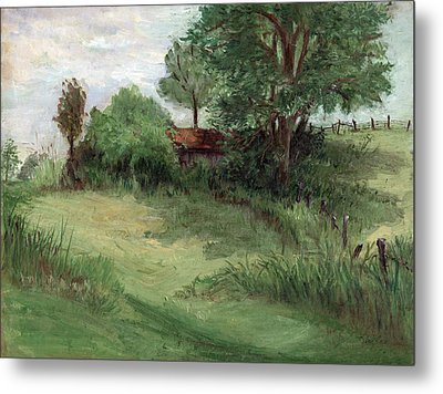 Tractor Shed Metal Print by Ethel Vrana