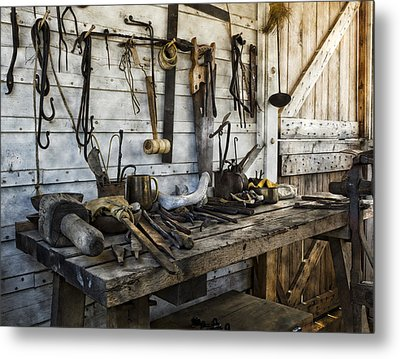 Trade Tools Metal Print by Peter Chilelli