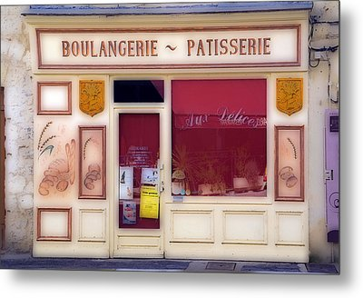 Metal Print featuring the photograph Traditional French Shop by Rod Jones