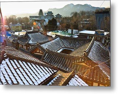 Traditional Tiled Roof Metal Print by SJ. Kim