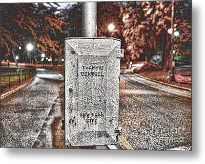 Traffic Control Box Metal Print