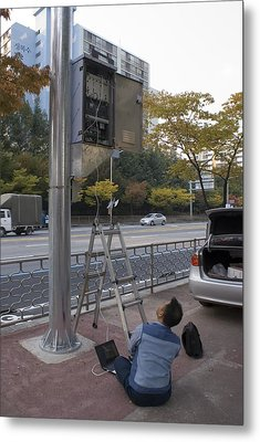 Traffic Control System, Daejeon Metal Print by Mark Williamson