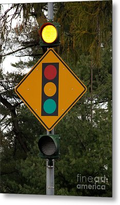 Traffic Sign Metal Print by Photo Researchers