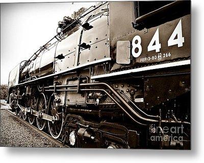 Train 844 Stopped Metal Print by Joseph Porey