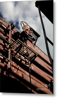 Train Car Metal Print by Leslie Leda