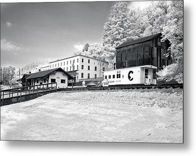 Metal Print featuring the photograph Train Depot by Mary Almond