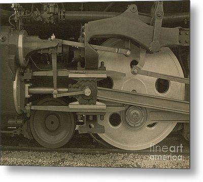 Train Wheels Metal Print by Photo Researchers