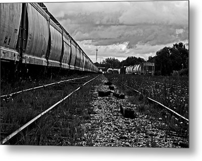 Metal Print featuring the photograph Train Yard by Randall  Cogle