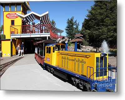 Traintown Sonoma California - 5d19236 Metal Print by Wingsdomain Art and Photography