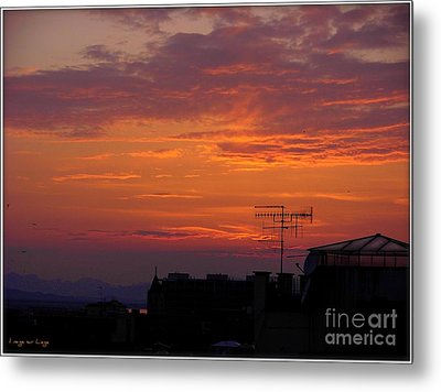 Metal Print featuring the photograph Tramonto Di Primavera by Mariana Costa Weldon