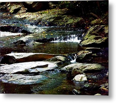 Metal Print featuring the photograph Tranquil River In Asheville Nc by Jodi Terracina