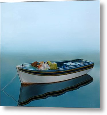Tranquility Of The Sea Metal Print