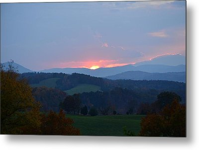 Metal Print featuring the photograph Tranquill Sunset by Cathy Shiflett