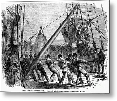 Trans-atlantic Cable, 1869 Metal Print by Granger